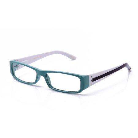 fc311680f71 Casual Fashion Horned Rim Rectangular Frame Clear Lens Eye Glasses -  Walmart.com