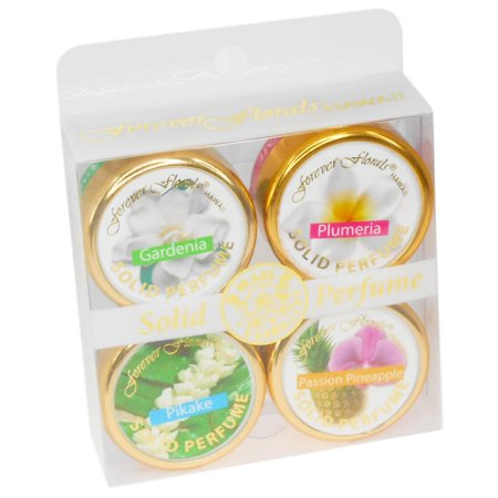 Forever Florals Solid Perfume, 4 Pack