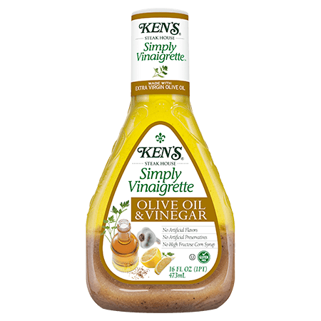 Balsamic Oil And Vinegar Dressing ((3 Pack) Ken's Steakhouse Simply Vinaigrette, Olive Oil & Vinegar, 16 Fl Oz )