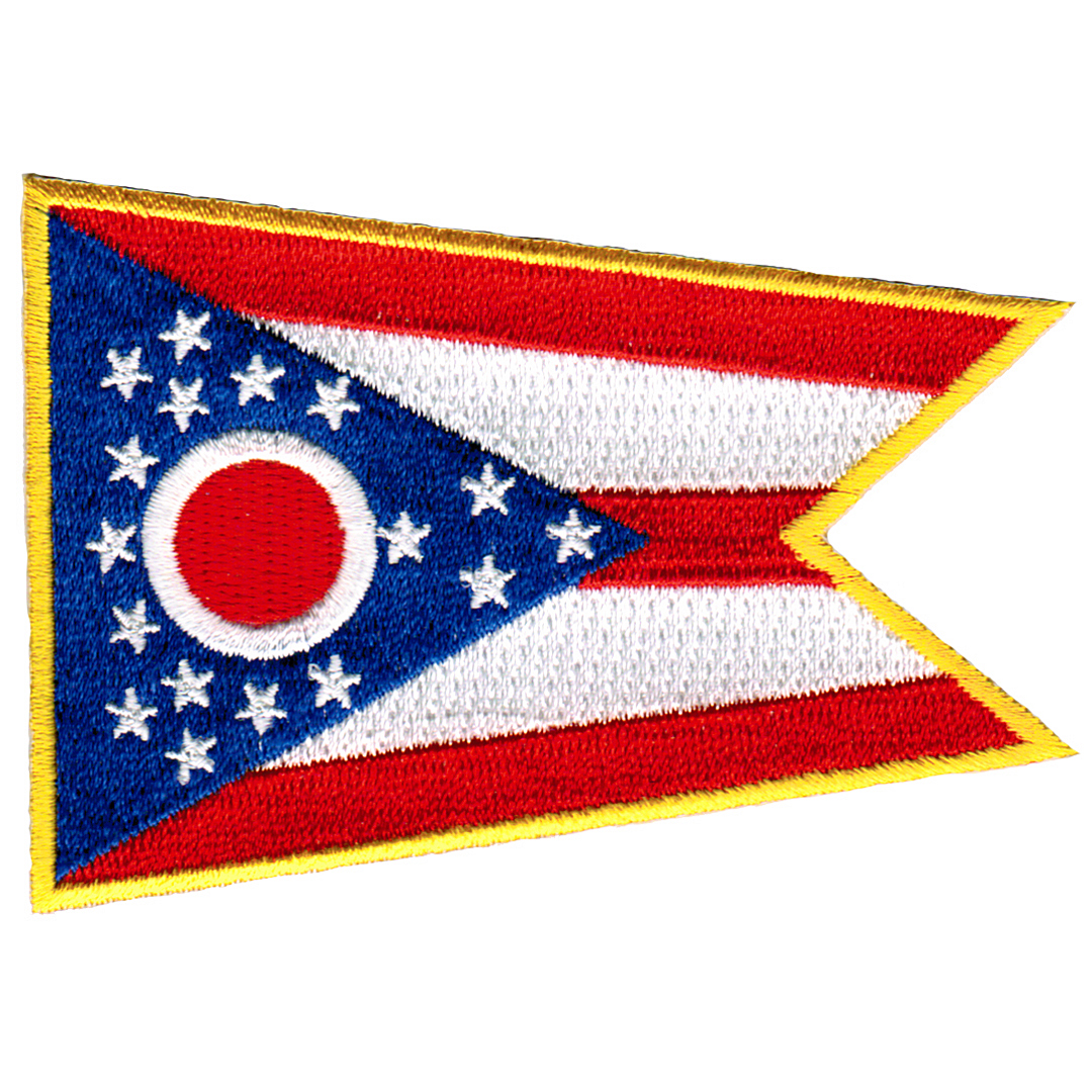 Ohio Embroidered Iron-On Flag Patch