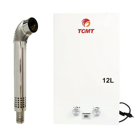 TCMT 3.2 GPM 12L Tankless Water Heater Natural Gas Instant Hot Boiler with Digital Display &