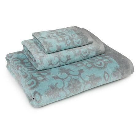 Image of Coastal Shades Bryant 3 Piece Towel Set in Aqua