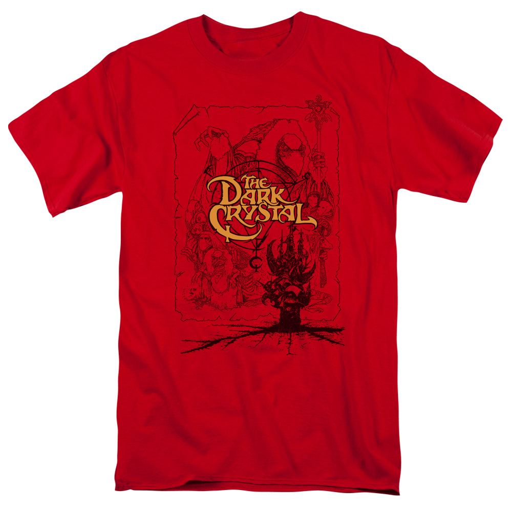 DARK CRYSTAL/POSTER LINES-S/S ADULT 18/1 - RED - 4X