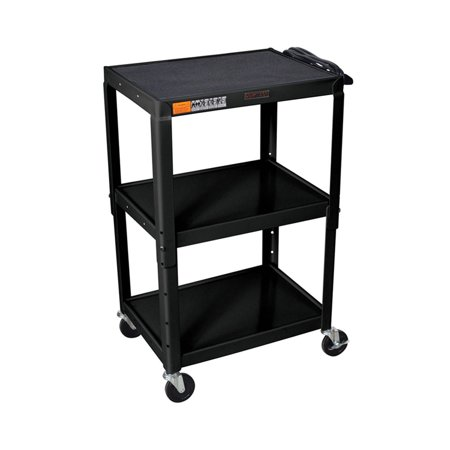 Offex OF-W42AE - Adjustable Height Steel A/V Cart - Three