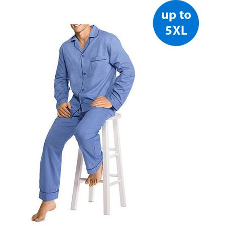 Hanes Big Men's Woven Pajama Set - Walmart.com