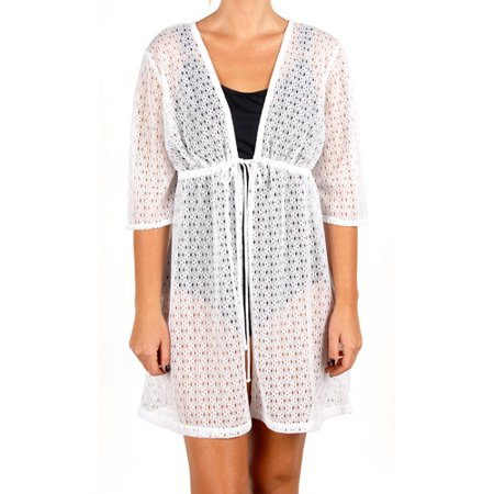 b913d0ce7cd2d Catalina - Women s Plus-Size Crochet Tunic Swim Cover-up - Walmart.com