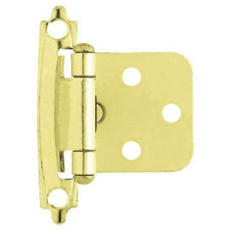 Schlage Brass Hinges - Liberty Hardware H0103BL-PB-U 2 Pack Polished Brass Self-Closing Overlay Hinge