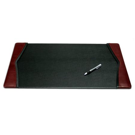 Burgundy Leather 22 X 14 Side Rail Desk Pad