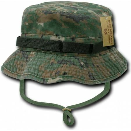 RapDom Vintage Washed Jungle Mens Boonie Hat [Woodland Digital - S]