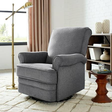 Modern Essentials Bella Upholstered Glider Swivel Rocker Chair, Multiple Colors Swivel Rocker Frame Color