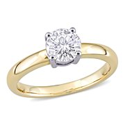 3/4 Carat T.G.W. Moissanite 14k Yellow Gold Solitaire Engagement Ring