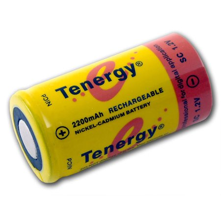 Tenergy Sub C 1.2V 2200mAh NiCd Rechargeable Battery for Power Tools (Flat (Best Rechargeable Batteries For Power Tools)