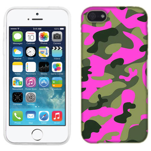 Mundaze Pink Camo Phone Case Cover for Apple iPhone 5C