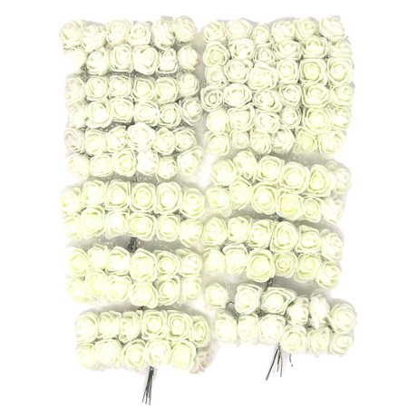 Flower Picks (Foam Flower Picks with Bendable Stem, Ivory, 3/4-Inch,)