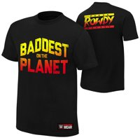 "Official WWE Authentic Ronda Rousey ""Baddest On The Planet"" Youth  T-Shirt Black Small"