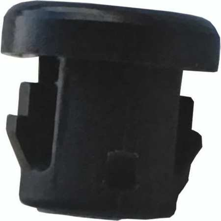 1ELY8 Bushing, Nylon, OD 0.375 In, Blk, PK25