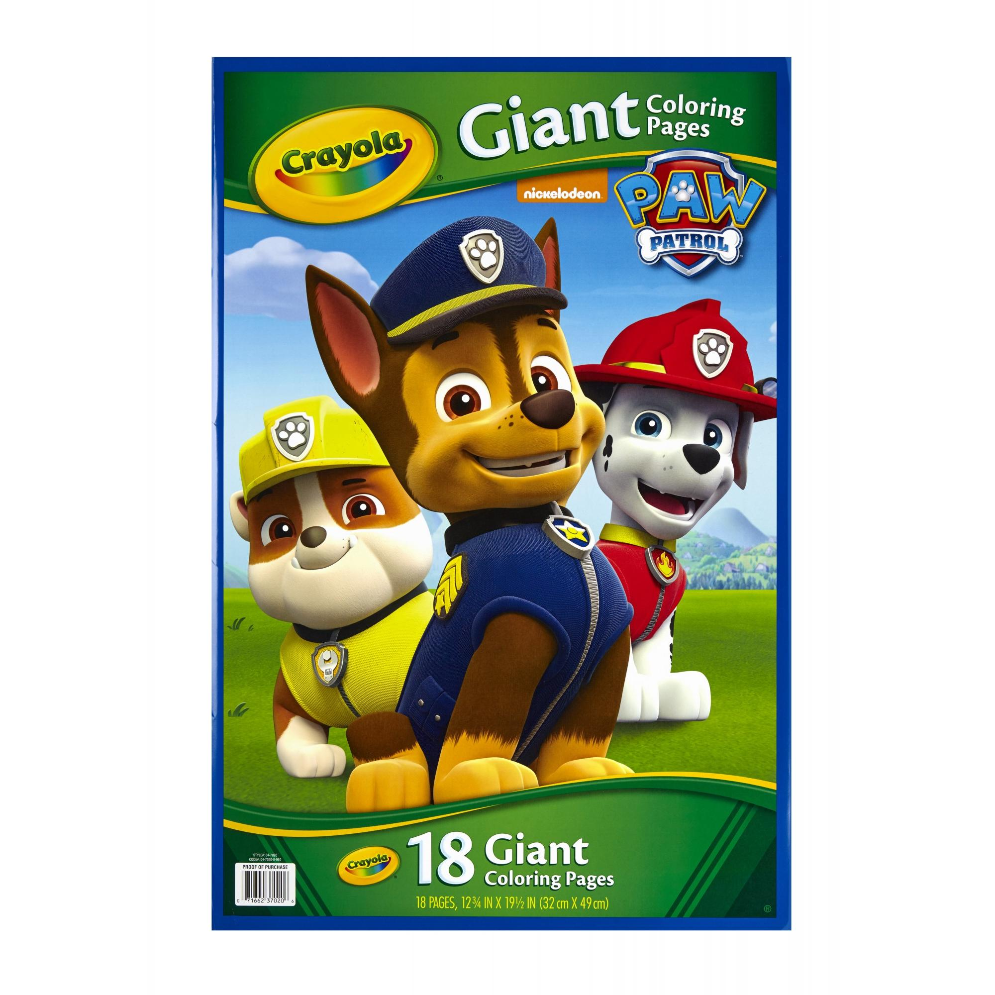 Crayola Giant Coloring Pages Nickelodeon Paw Patrol Walmartcom