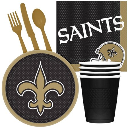 NFL Party Supplies New Orleans Saints Tailgate Party Pack For 32 - Nfl Party