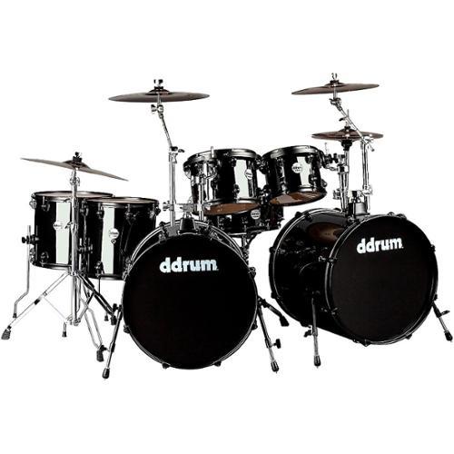 Ddrum Journeyman2 Double Bass 7-Piece Drum Set Midnight Black by ddrum