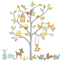 Woodland Fox and Friends Tree Peel and Stick Wall Decals