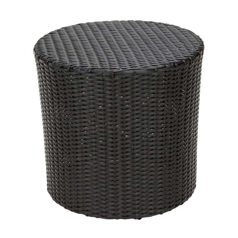 Home Loft Concepts James Wicker Barrel Side Table
