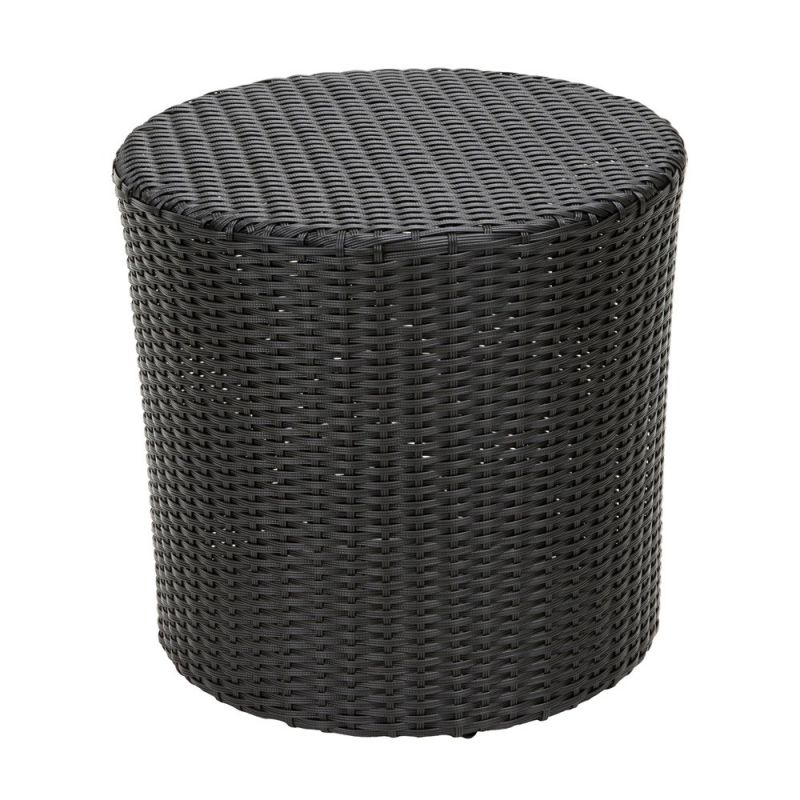 Home Loft Concepts James Wicker Barrel Side Table