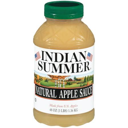 Indian Summer ® Natural Apple Sauce 48 oz. Jar