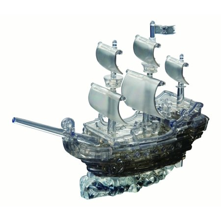 Deluxe 3D Crystal Puzzle - Black Pirate Ship (Brille 3d Anprobe)