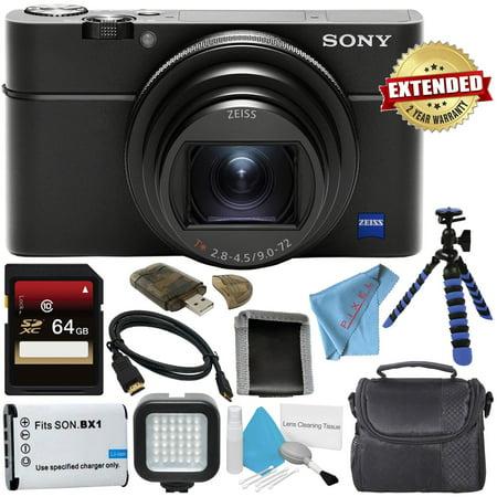 Sony Cyber-Shot Premium Compact DSC-RX100 VI + 64GB SDxC + 2 Year Extended Warranty Digital Camera