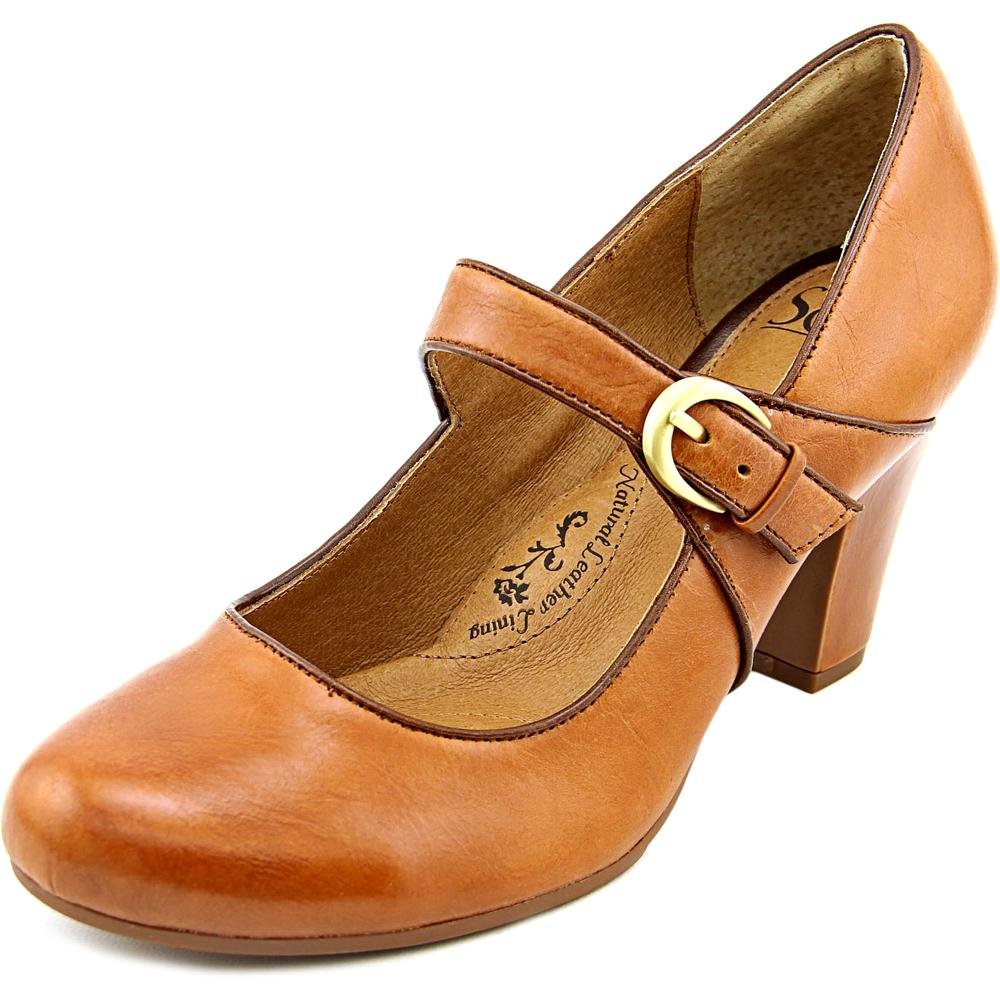 Sofft Miranda Women Round Toe Leather Brown Mary Janes by Sofft