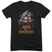MGM Army Of Darkness Bloody Poster Mens Tri-Blend Short Sleeve Shirt