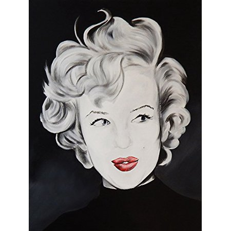 Kissy Face Marilyn Monroe By Ed Capeau 36X24 Giclee Edition Art Print Poster   Classic Pop Art Style Hollywood Icon Red Lips Sexy Kiss Pod