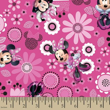 Disney Minnie Bowtique Minnie Allover Fabric by the - Disney Cars Fabrics