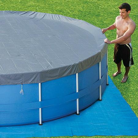summer escapes 15ft metal frame pool set deluxe kit walmartcom