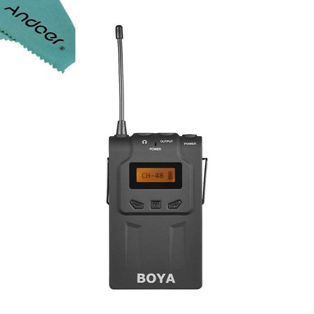 - BOYA BY WM6R UHF Wireless Microphone System Receiver 576MHz 599MHz 48 Channels for ENG EFP for Canon Nikon Son