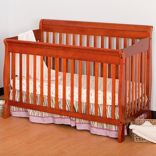 Storkcraft Modena 4-in-1 Fixed-Side Convertible Crib, Cognac