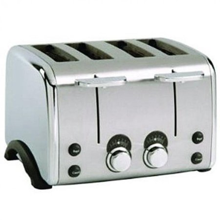 Black and Decker 4 Slice Silver Chrome Toaster