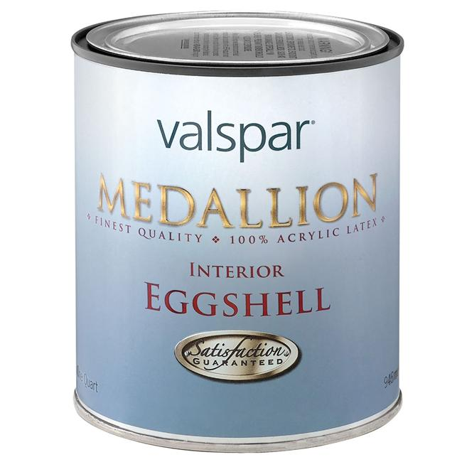 Valspar Brand 1 Quart Tint Base Medallion Interior 100 percent Acrylic Eggshell Paint 2