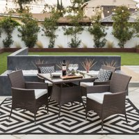 1747607dee4 Product Image Best Choice Product 5-Piece Indoor Outdoor Wicker Patio  Dining Set Furniture w  Square