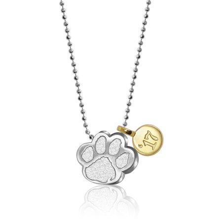 Clemson Tigers Jewelry - Clemson Tigers Alex Woo Women's Little Collegiate Sterling Silver Necklace with 14K Yellow Gold Mini Charm - No Size