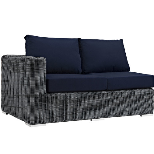 Brayden Studio Keiran Left Arm Loveseat Sectional Piece with Cushions