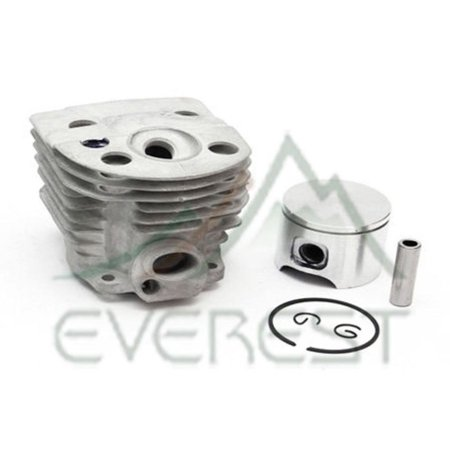 Max Motosports Cylinder Piston Rebuild Kit Assembly Fits Husqvarna 55 51 Chainsaws 46mm # 503 16 - Chainsaw Cylinder Assembly