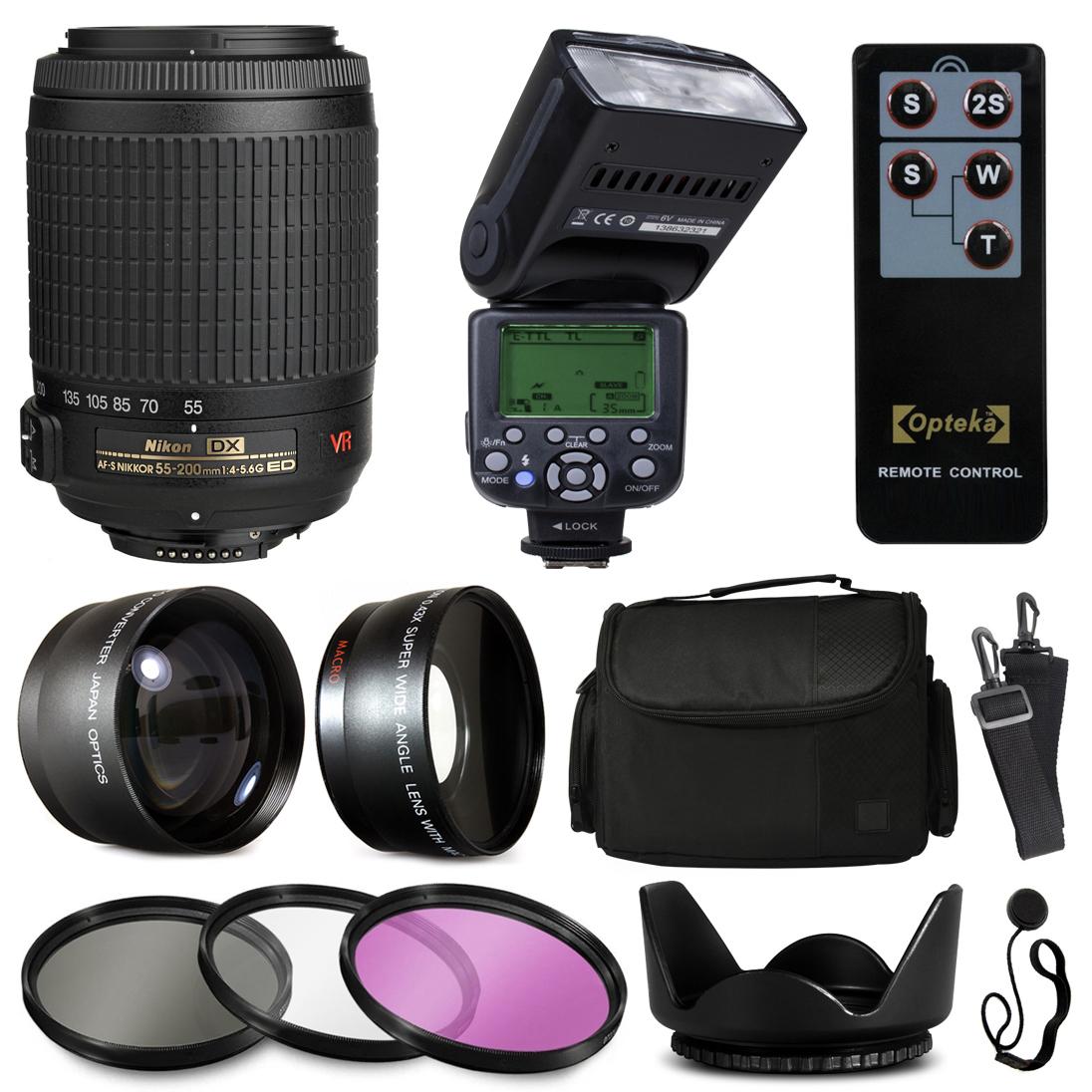 Nikon VR 55-200mm Lens 2166 + Accessories Bundle with 2.2...
