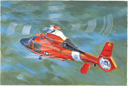 Trumpeter US Coast Guard HH-65C Dolphin Helicopter Model Kit by Trumpeter
