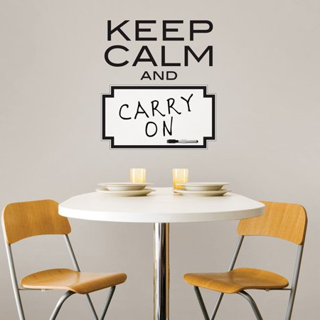 Wall Pops  Keep Calm  Dry Erase Wall Quote Decal