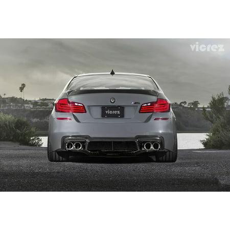 Vicrez BMW 5 Series F10 M5 2011-2017 VS5 Carbon Fiber Rear Diffuser -