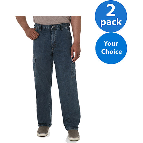 Wrangler - Men's Cargo Pants or Jeans, 2 Pack