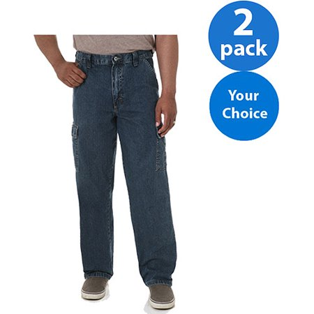 Wrangler - Mens Cargo Pants or Jeans, 2 Pack