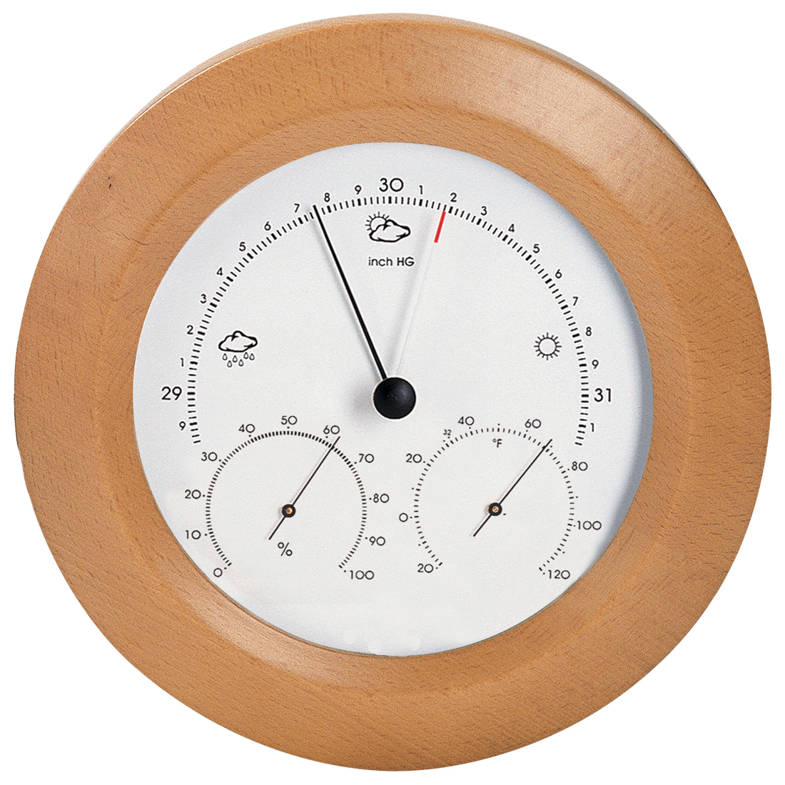 Weather Station 8 inch Beech