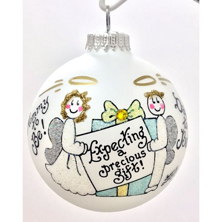 Expecting a Precious Gift New Mom Dad Parents Christmas Ornament Made in the USA ()